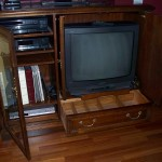 Entertainment centre and TV available for free