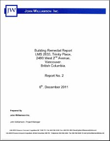John Williamson Inc., report 2 (Building Remedial Report), 2011-12-06.